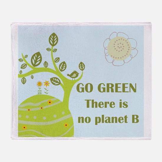 Cute Go green Throw Blanket
