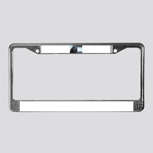 smiling lhasa type dog License Plate Frame