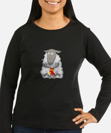 Sheep Knitting Sock Long Sleeve T-Shirt