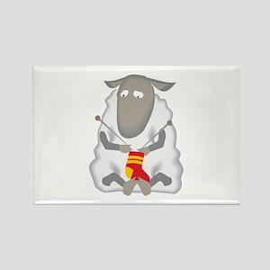 Sheep Knitting Sock Magnets