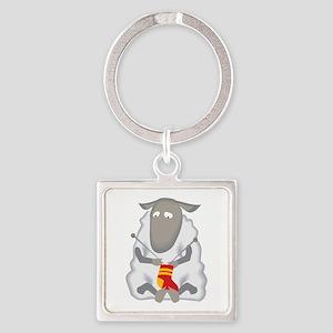 Sheep Knitting Sock Keychains
