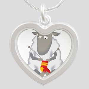 Sheep Knitting Sock Necklaces