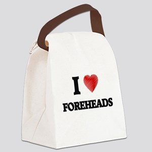 I love Foreheads Canvas Lunch Bag