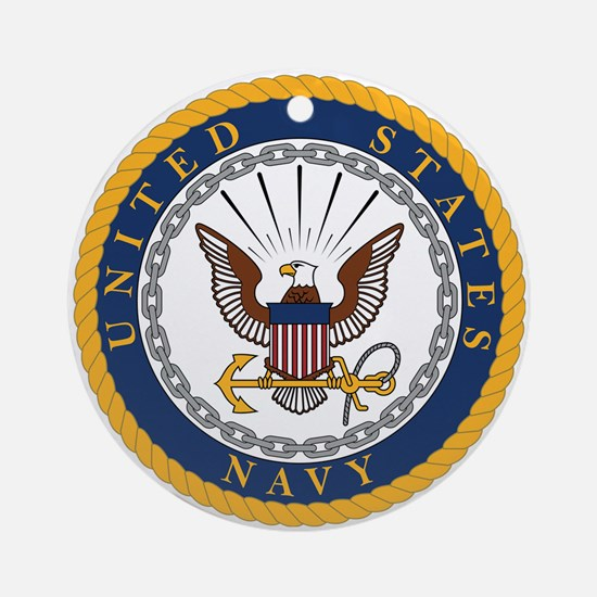 Cute Usnavy Round Ornament