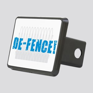 Defence - Blue Rectangular Hitch Cover