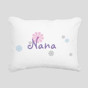 Nana Flowers Rectangular Canvas Pillow