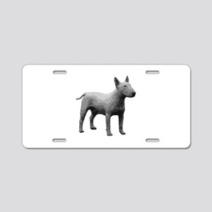 Bullterrier grayscale Aluminum License Plate