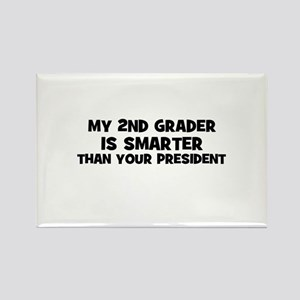 My 2nd Grader is smarter than Rectangle Magnet