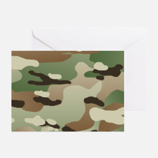 U.S. Army New Camouflage Pattern Greeting Cards (P