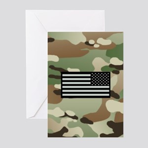 Woodland Camouflage Patt Greeting Cards (Pk of 10)