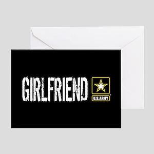 U.S. Army: Girlfriend (Black) Greeting Card