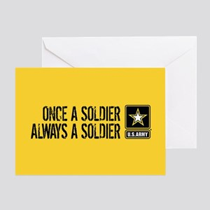 U.S. Army: Once a Soldier (Gold) Greeting Card