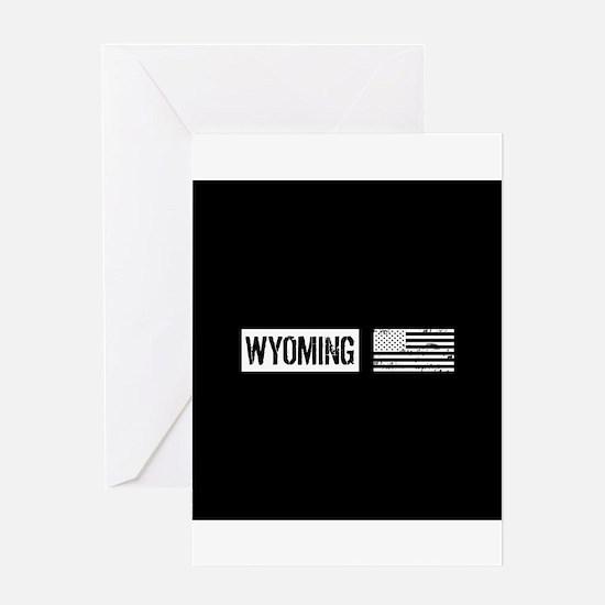 US Flag: Wyoming Greeting Card