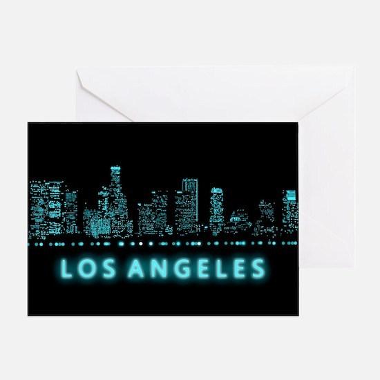 Digital Cityscape: Los Angeles, Cali Greeting Card