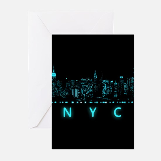 Digital Cityscape: New Y Greeting Cards (Pk of 10)