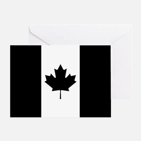 Canada: Black Military Flag Greeting Card