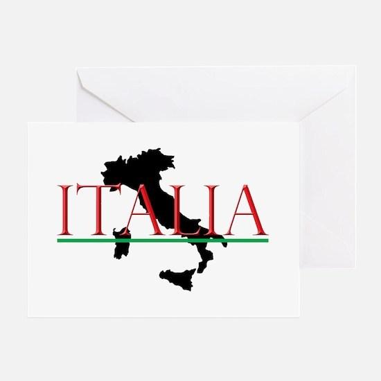 Italia: Italian Boot Greeting Card