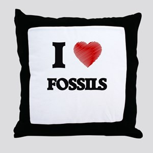 I love Fossils Throw Pillow