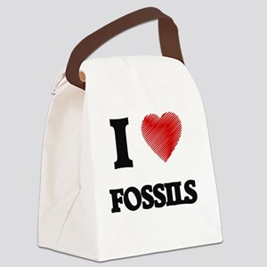 I love Fossils Canvas Lunch Bag