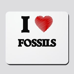 I love Fossils Mousepad
