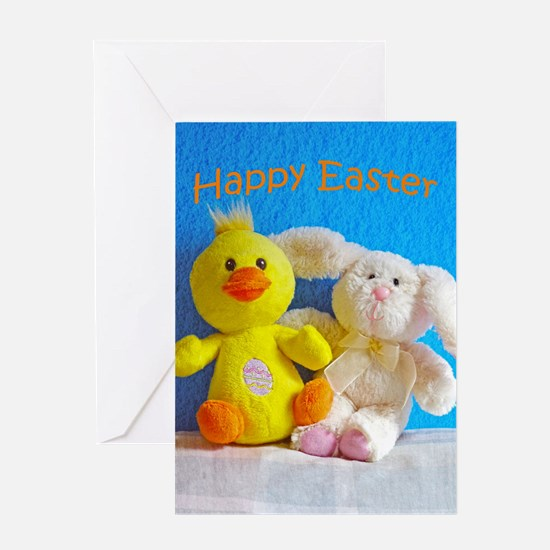 Happy Easter Chick + Bunny Greeting Cards