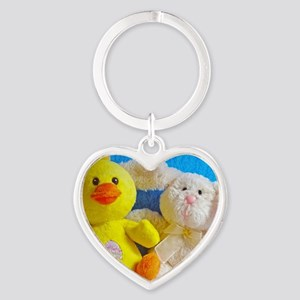 Happy Easter Chick + Bunny Keychains