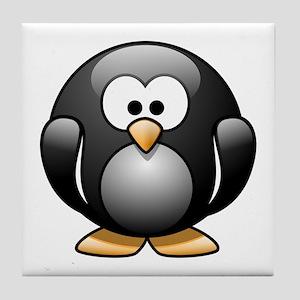 Cartoon Penguin Tile Coaster