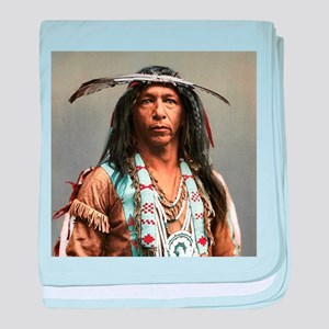 Classic Native American Brave baby blanket
