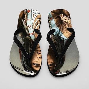 Classic Native American Brave Flip Flops