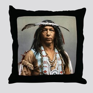 Classic Native American Brave Throw Pillow