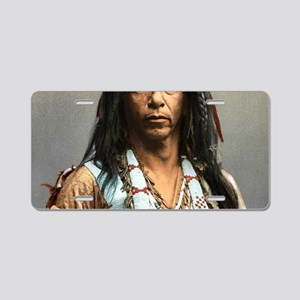 Classic Native American Bra Aluminum License Plate