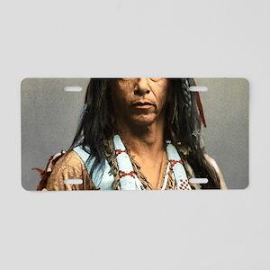 Classic Native American Bra Aluminum License Plate
