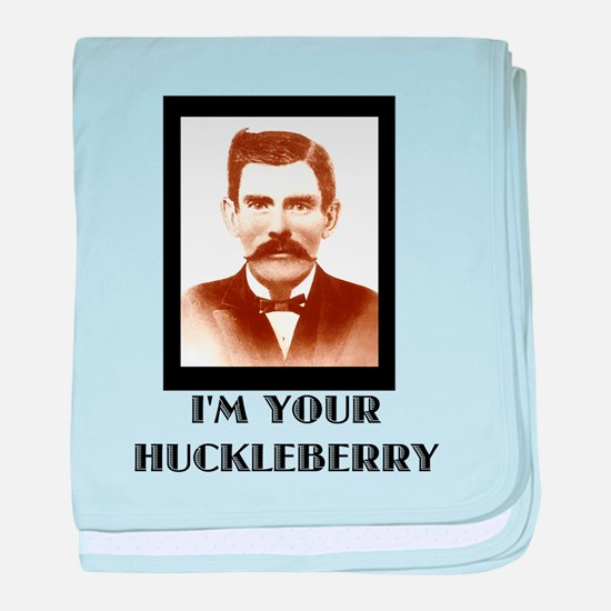 Doc Holliday - I'm Your Huckleberry baby blanket