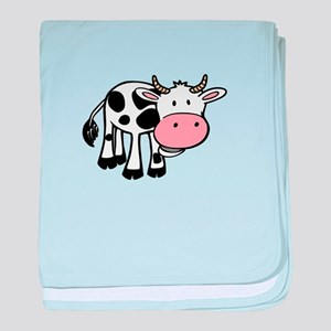 Chewing cow baby blanket