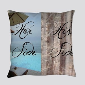 her side his side: paradise Everyday Pillow