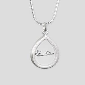 Lineman sleeping art Necklaces