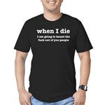 I'm Going To Haunt You Men's Fitted T-Shirt (dark)