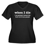 I'm Going To Women's Plus Size V-Neck Dark T-Shirt