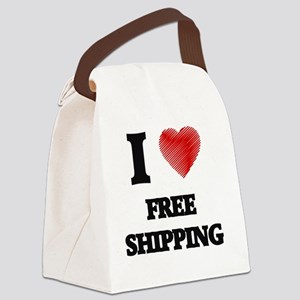 I Love Free Shipping Canvas Lunch Bag