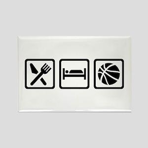 Eat Sleep Basketball Rectangle Magnet