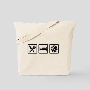 Eat Sleep Basketball Tote Bag