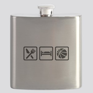 Eat Sleep Basketball Flask