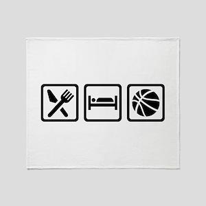 Eat Sleep Basketball Throw Blanket