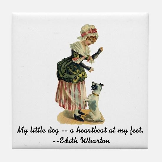My Little Dog Tile Coaster