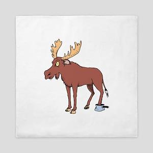 Moose Stuck in Pan Queen Duvet