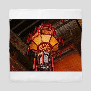 Lantern, Daxu Old Village, China Queen Duvet