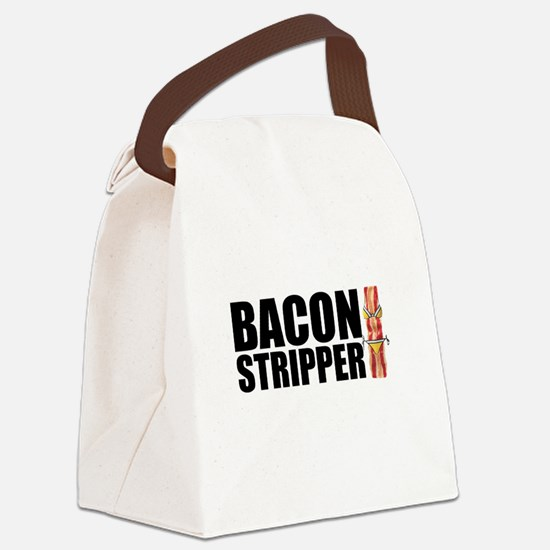 Bacon Stripper Canvas Lunch Bag
