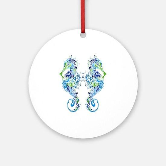 Seahorses Round Ornament
