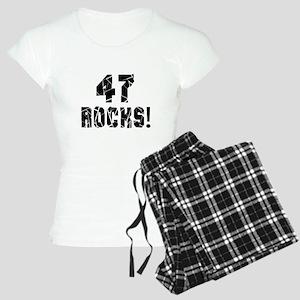 47 Rocks Birthday Designs Women's Light Pajamas