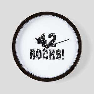 42 Rocks Birthday Designs Wall Clock